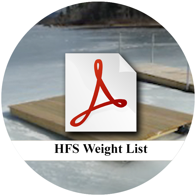 Highland-Floating-Dock-System-Weight-List